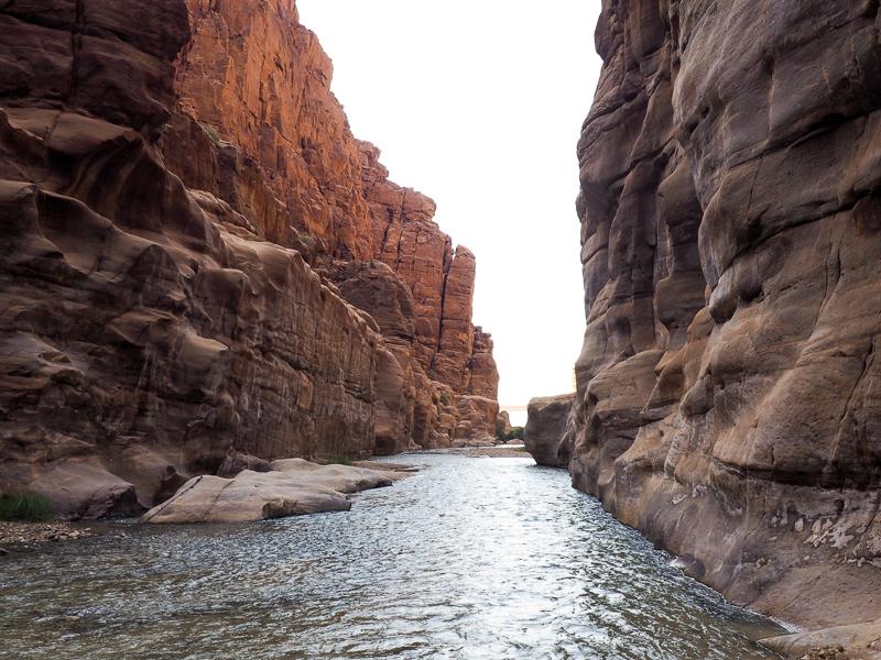 Wadi Mujib en Jordanie.