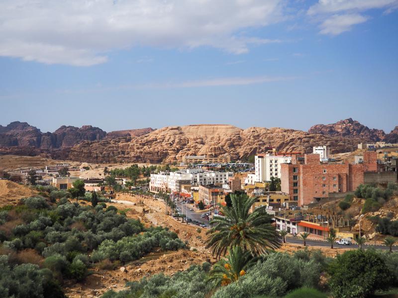 Wadi Musa, ville à l'entrée de la cité de Petra.