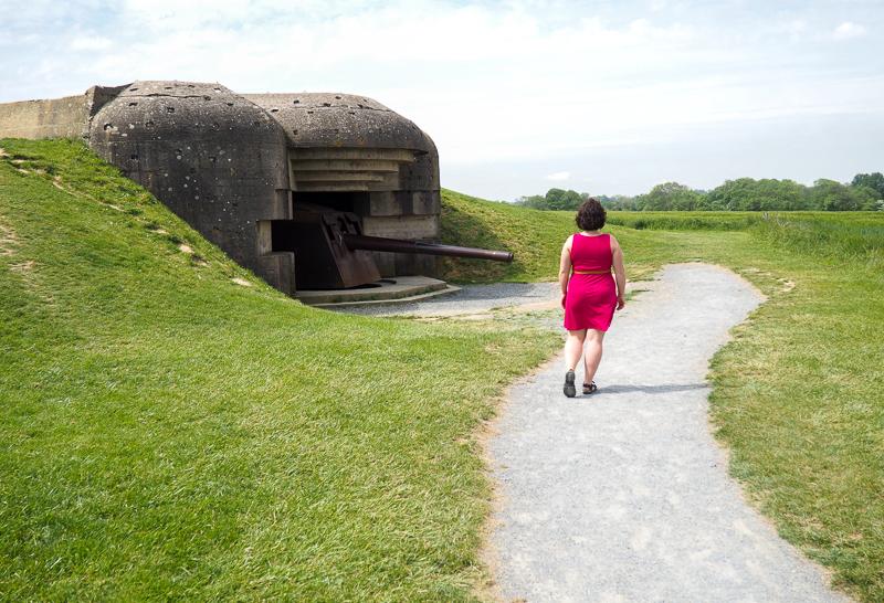 Batterie allemande en Normandie.