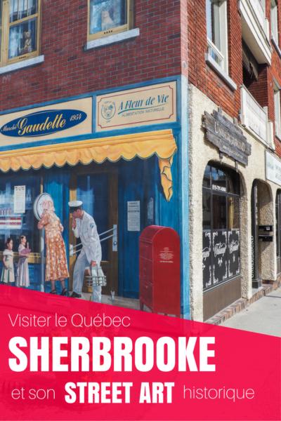 Découvrez le Street Art historique à Sherbrooke lors de vos prochaines vacances au Québec. Le circuit des murales: une façon urbaine de découvrir l'histoire de la ville.