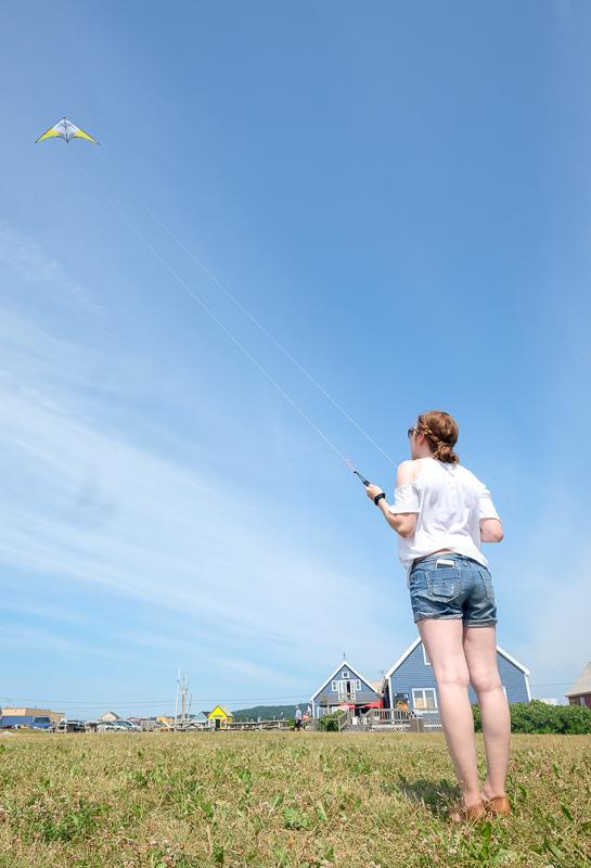 Activité d'initiation au cerf-volant aux Îles de la Madeleine à la Boutique Au Gré du Vent