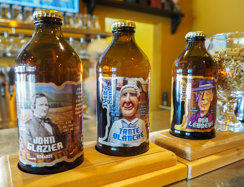 Bières de la microbrasserie Petit-Sault à Edmundston.