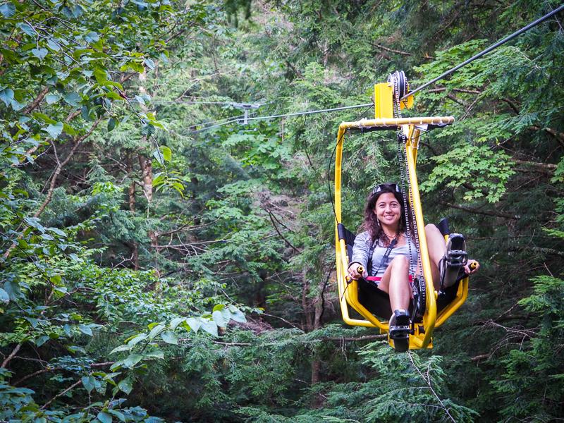 Rachel de Découverte Monde en vélo volant au Diable Vert
