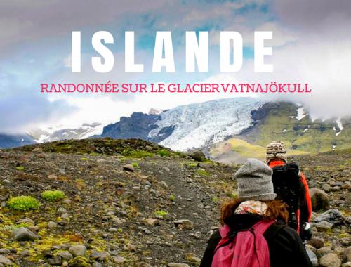 Randonnée sur un glacier au parc Skaftafell en Islande.