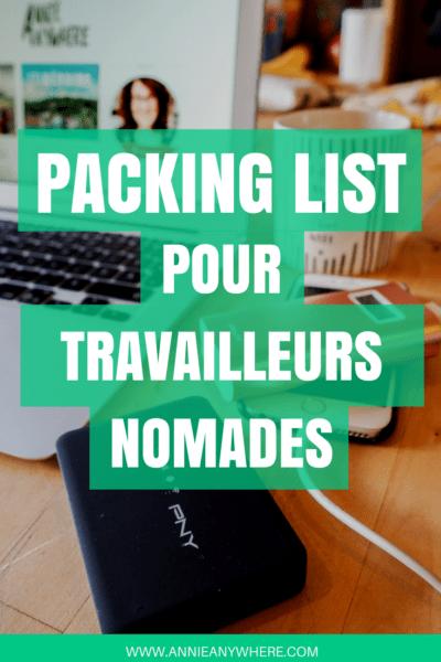 Comment être efficace pour travailler sur la route? Voici la liste de gadgets électroniques et de ressources utiles pour les travailleurs nomades. #digitalnomad #voyage #travelgear
