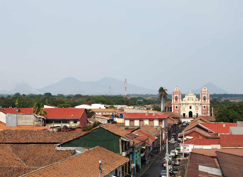 Vue panoramique de la ville de Léon au Nicaragua