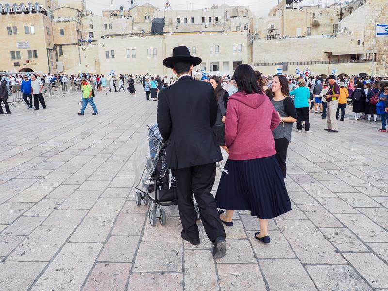 Balade devant le mur occidental à Jerusalem