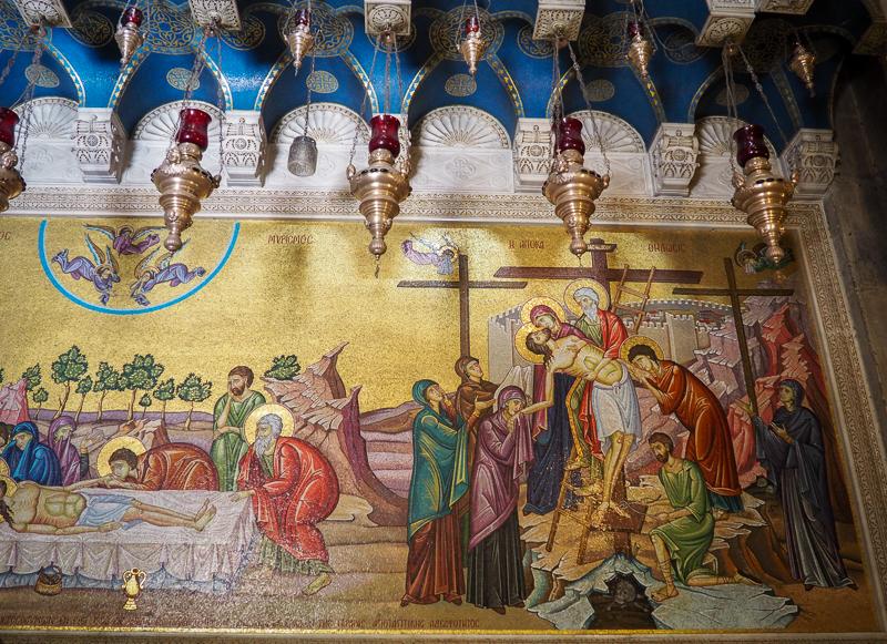 Mosaïque à l'intérieure de l'Église du St-Sépulcre