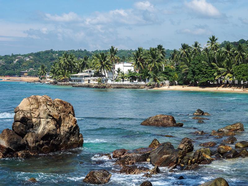 Resort en bord de plage à Unawatuna au Sri Lanka