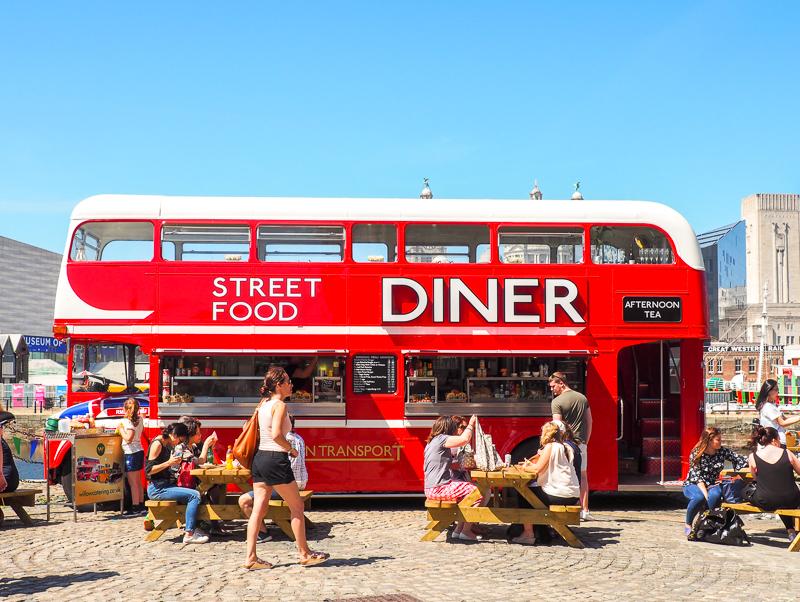 Food Truck au Albert Dock de Liverpool