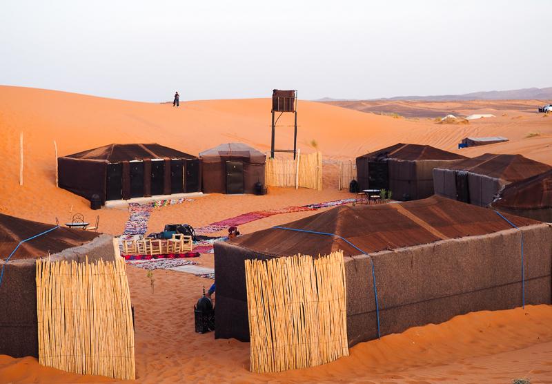 Où dormir dans un campement dans le désert du Sahara