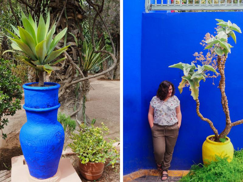 Bleu Majorelle au jardin de Marrakech
