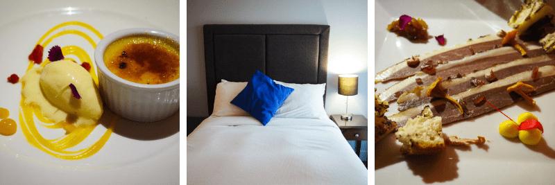 Repas gastronomique et chambre confortable à l'Hôtel et Suites Lac Brome