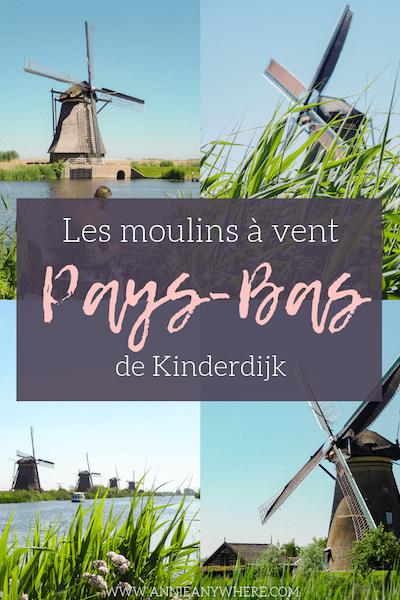 Voyage au Pays-Bas | Les moulins à vent de Kinderdijk sont un incontournable lors d'une visite en Hollande. Comment s'y rendre? Comment les visiter? Où dormir? Voici un guide complet pour prévoir votre visite des moulins à vent de Hollande.