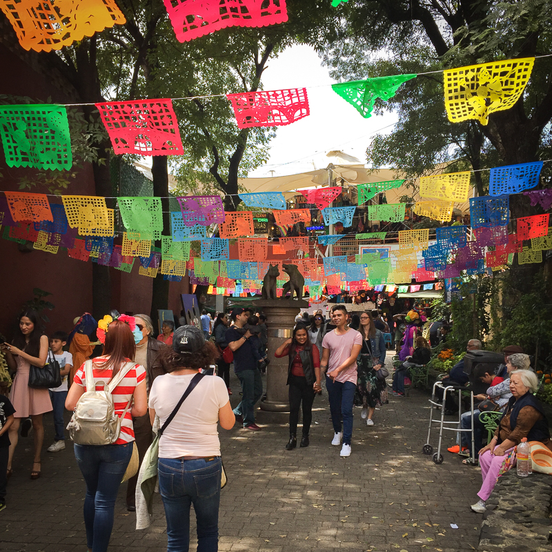 Quartier Coyoacan de Mexico city
