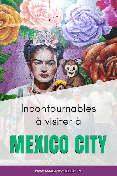 En voyage à Mexico City pour la première fois? Voici mes coups de coeurs à visiter dans la capitale du Mexique ainsi que des conseils de sécurité. Les musées, l'art de rue et les visites inusités ne vous laisseront pas indifférents. #MexicoCity #mexique
