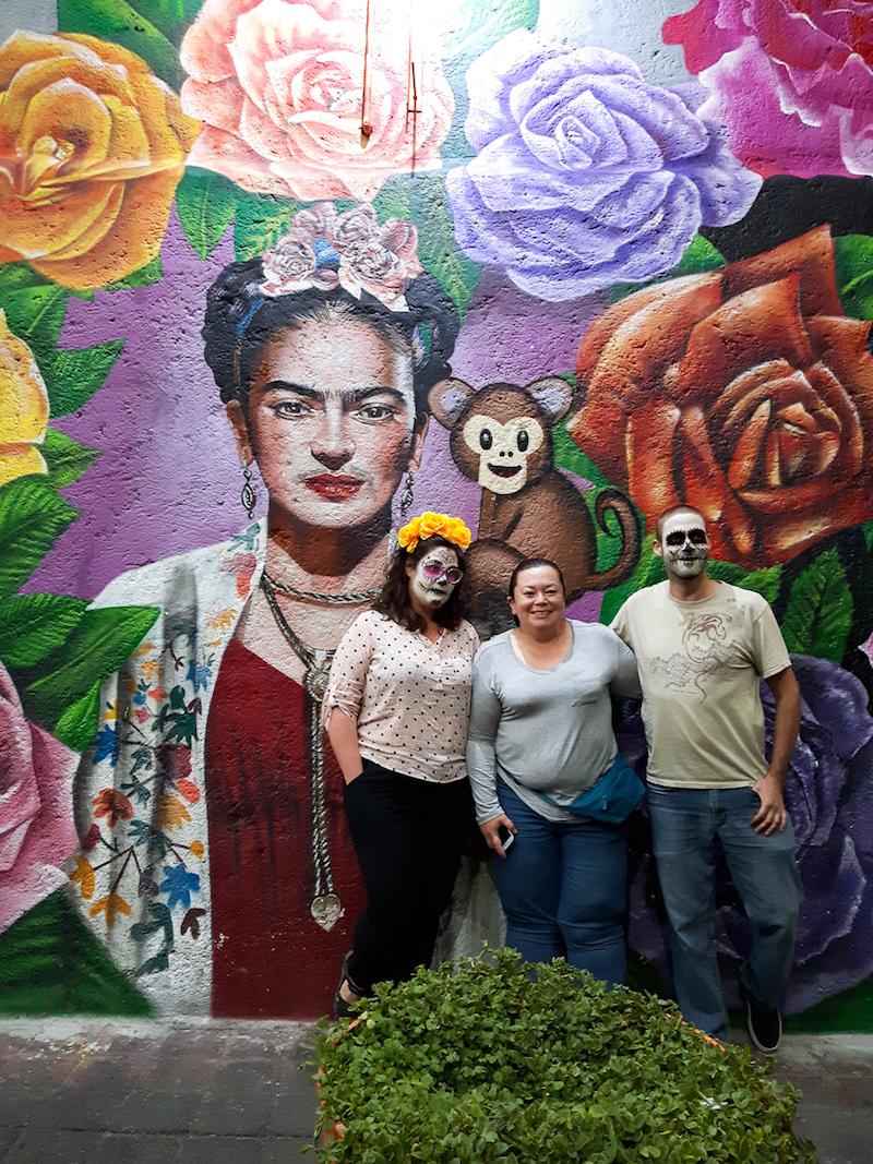 Murale de Frida Kahlo dans le quartier La Roma de Mexico