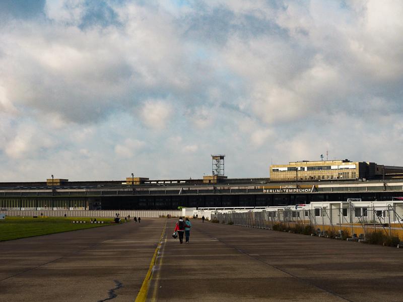 Site de l'ancien aéroport de Berlin-Tempelhof, qui est maintenant un parc public