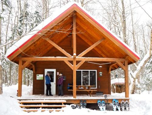 Activités d'hiver dans le Centre-du-Québec - Refuge du parc national des Grandes-Coulées