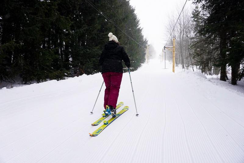 Annie Anywhere est randonnée alpine au Mont Gleason