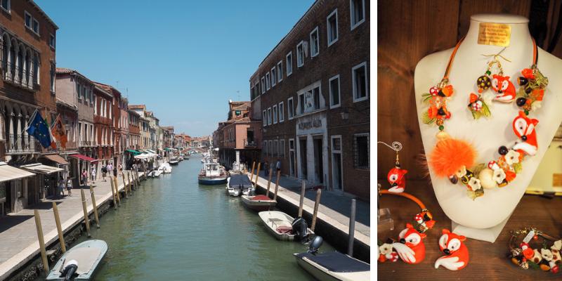 Île de Murano dans la lagune de Venise et ses verreries