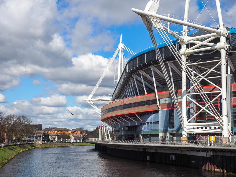 Le Wales Millenium Stadium pour voir des matchs de rugby à Cardiff