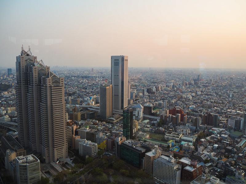 Vue de l'observatoire de la mairie de Tokyo