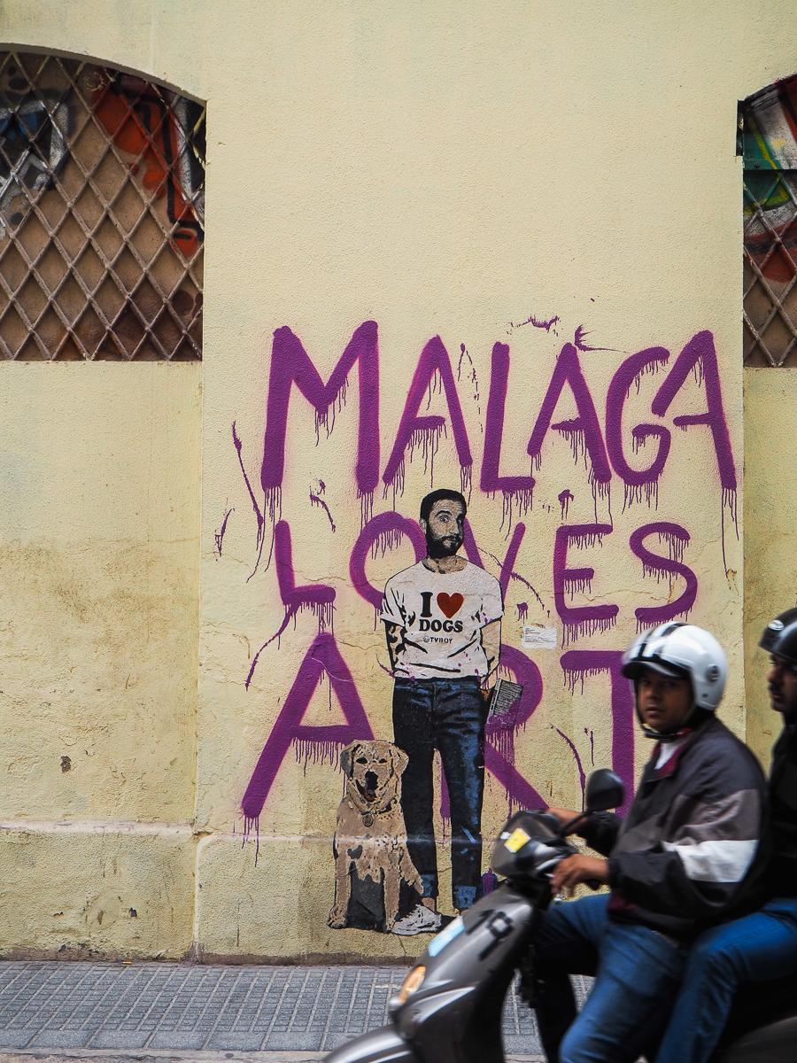 Art de rue à Malaga - Oeuvre de TV Boy