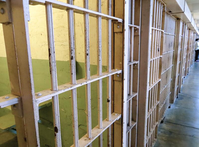 Intérieur de la prison d'Alcatraz à San Francisco