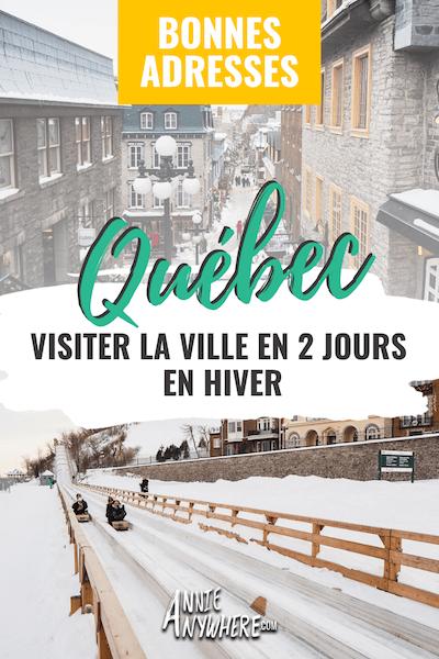 Bonnes adresses à visiter à Québec en hiver - Hôtel, restaurants, microbrasseries et activités hivernales à faire dans la capitale. #voyage #explorecanada #quebecoriginal