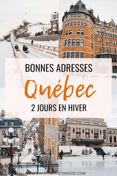 Quelques bonnes adresses et les incontournables à visiter en hiver dans la ville de Québec. On entend souvent parler des mêmes endroits dans le Vieux-Québec, mais j'ai voulu vous faire découvrir aussi quelques lieux différents où manger et où dormir dans la capitale. #quebeccity #quebecoriginal #voyage