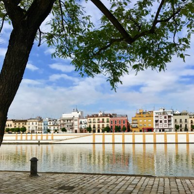 The view of Triana across the river from Seville