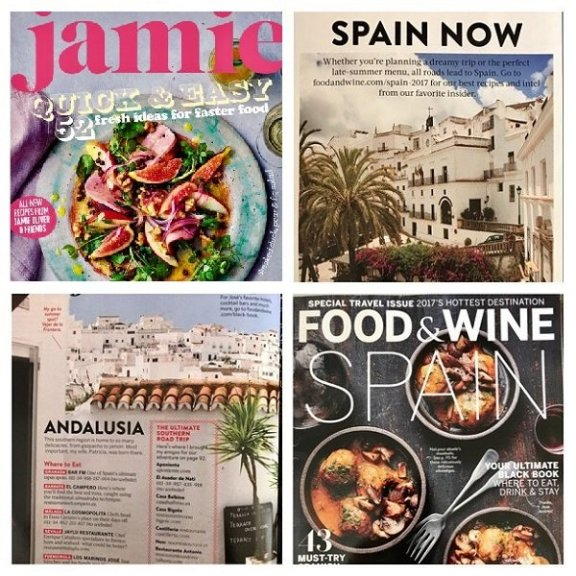 food and travel magazines feat. vejer