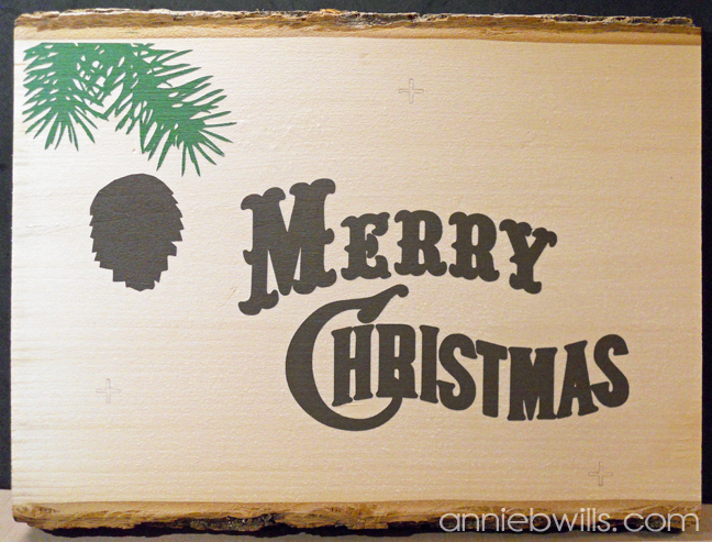 Rustic Merry Christmas Sign by Annie Williams - First Layer