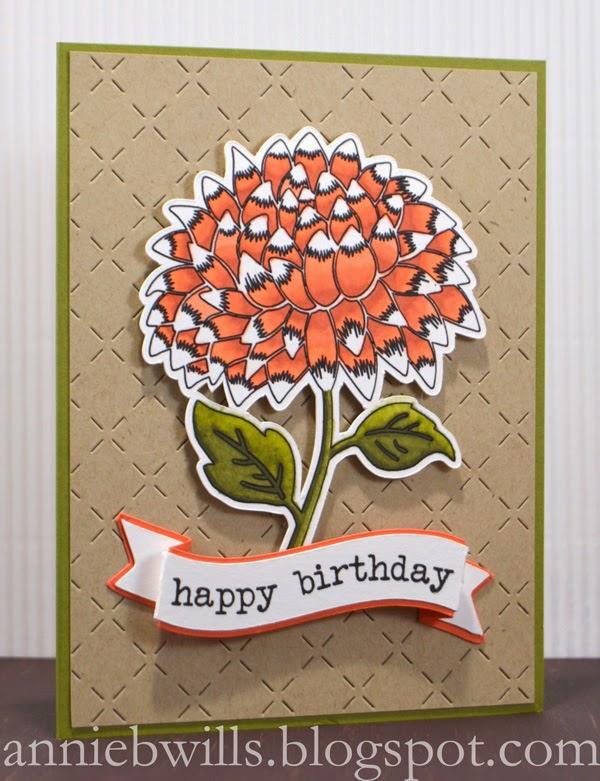 Sketched Flower Birthday Card Lab Hands