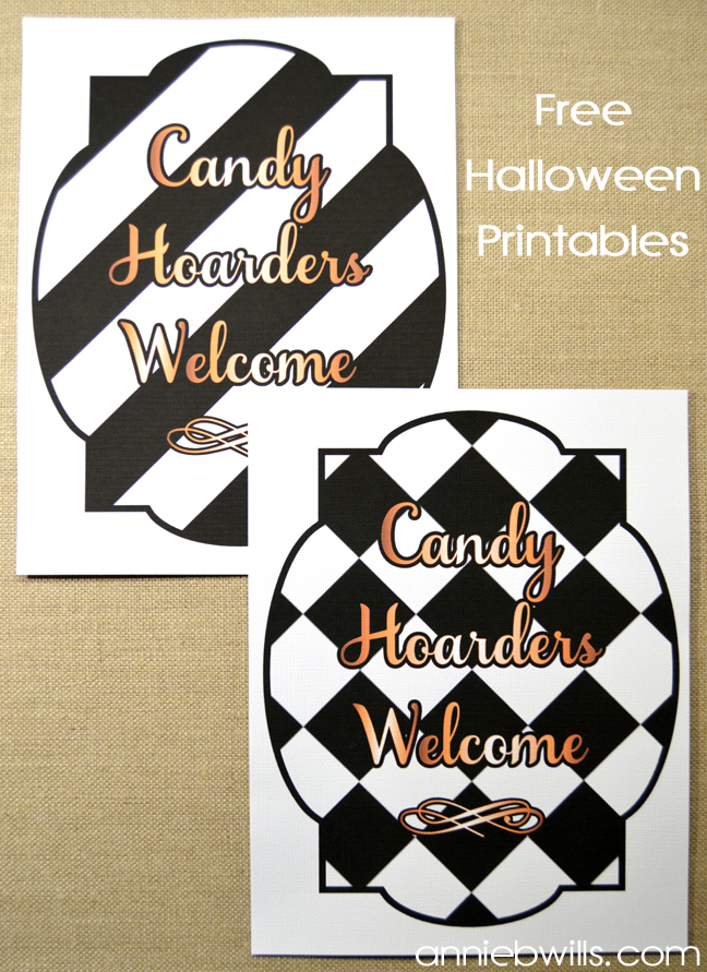 Candy Hoarders Welcome Signs by Annie Williams - Main