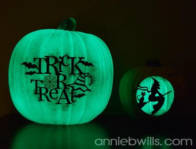 Glow in the Dark Vinyl Pumpkins by Annie Williams - Nighttime