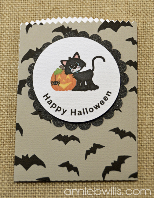 Print and Cut Halloween Treat Bags by Annie Williams - Gray Detail