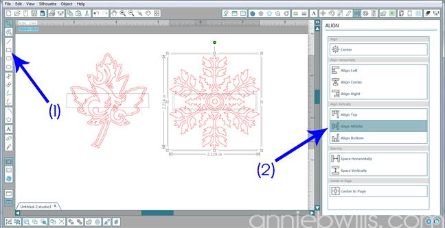 2 Split Monogram Napkins by Annie Williams - Draw Rectangle