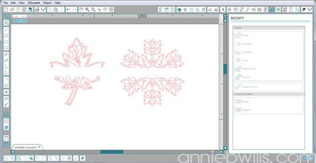 4 Split Monogram Napkins by Annie Williams - Subtracted Design