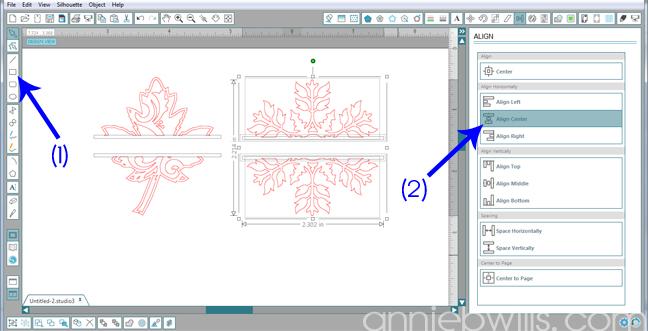 5 Split Monogram Napkins by Annie Williams - Draw Split Rectangles