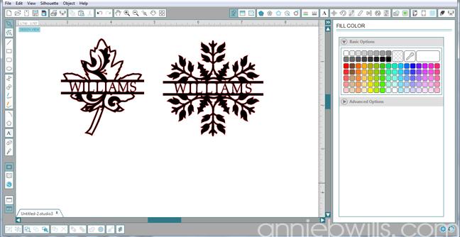 9 Split Monogram Napkins by Annie Williams - Final Designs