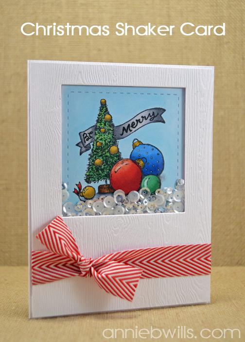 Bottlebrush Tree Shaker Card by Annie Williams - Main