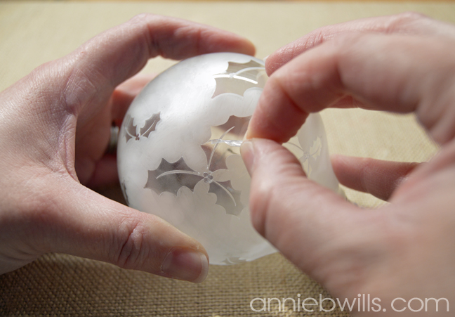 Wintry Etched Lightbulbs by Annie Williams - Remove Stencil 2