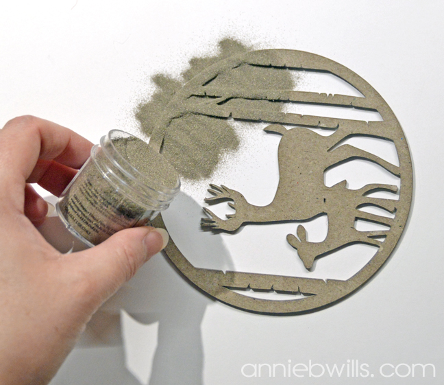 Faux Metal Christmas Ornaments by Annie Williams - Embossing Powder