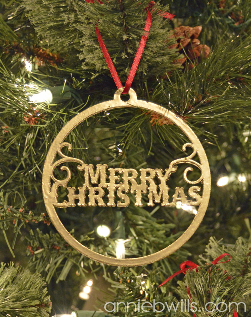 Faux Metal Christmas Ornaments by Annie Williams - Merry Detail