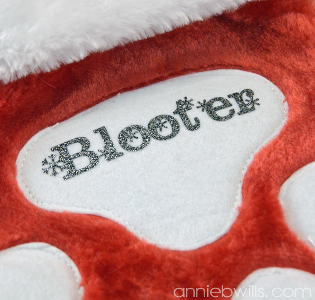 Personalized Pet Stocking by Annie Williams - Detail