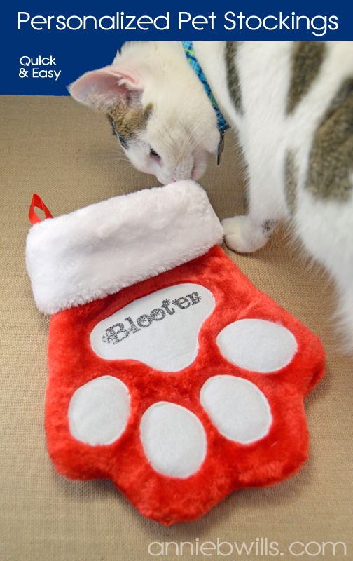 quick and easy personalized pet stockings lab hands