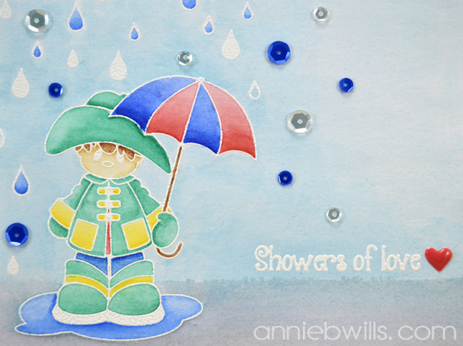 Showers of Love Card by Annie Williams - Detail