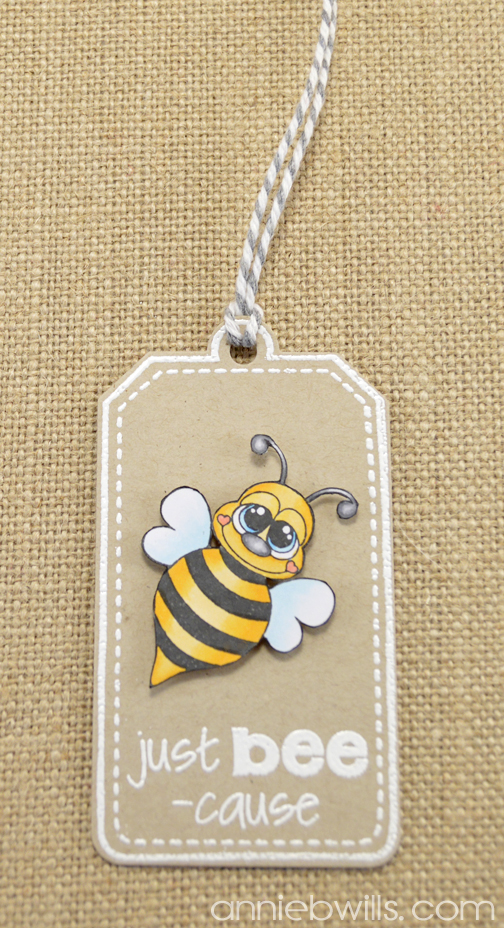 Just Bee-cause Gift Box by Annie Williams - Tag